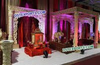 Golden Designer Fiber Wedding Mandap