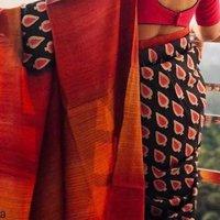 Hand Block Print Pure Silk Sarees