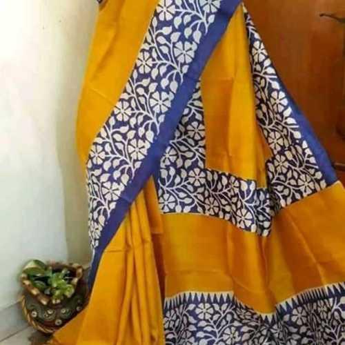 Hand Block Print Silk Sarees