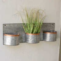 Antique Galvanized Wall Palnter