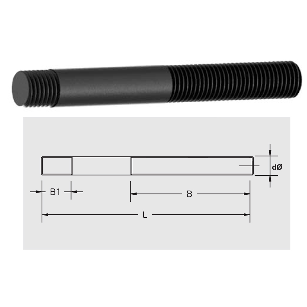 Clamping Stud (For Use With T-Nut)