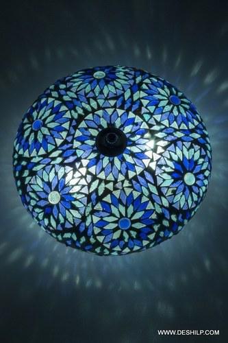 Blue Mosaic Ceiling Lamp