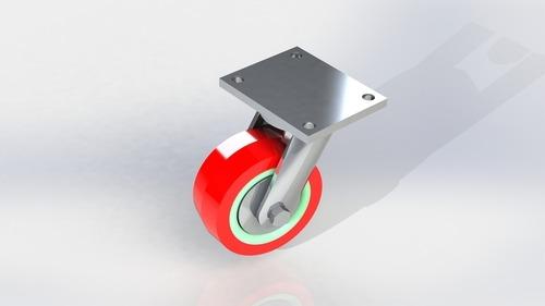 Heavy Duty Polyurethane Plate Type Wheel