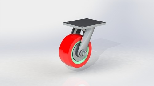 Medium Duty Polyurethane Plate  type Wheel
