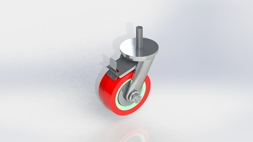 Medium Duty Polyurethane Stud type Wheel