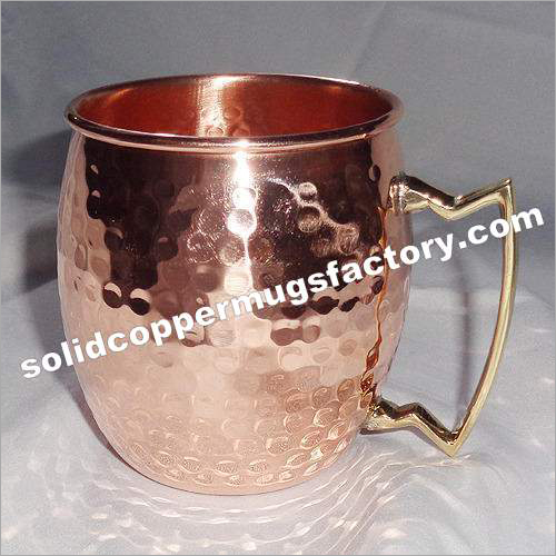 Solid Copper Hammered Moscow Mule Mug 16oz