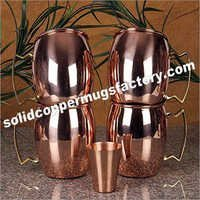 Moscow Mule Copper Mug Plain With Brass Handle-copper Barrel Mug For Vodka, Ginger Beer