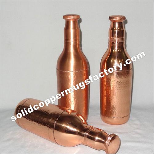 Pure Copper Water Bottle Champagne design