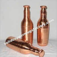 Pure Copper Water Bottle Champagne design