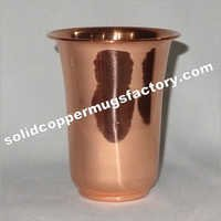 Solid Copper Glass Juice Glass Water Glass