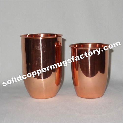 Pure Copper Glass For Juice Beer Set Of 2