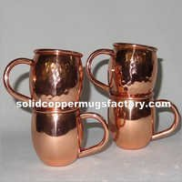 Solid Copper Shot Mug