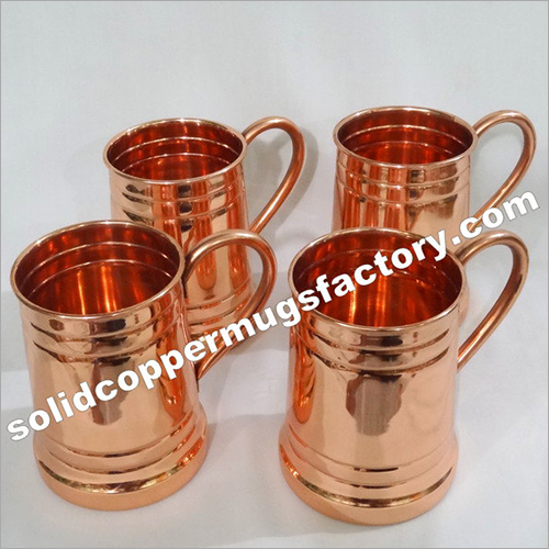 Solid Copper Stein Beer Mugs