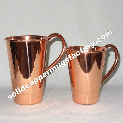 Solid Copper Pint Glass With Handle