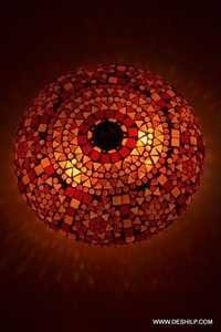 Oriental ceiling light Goa mosaic orange Bohemian 24 cm