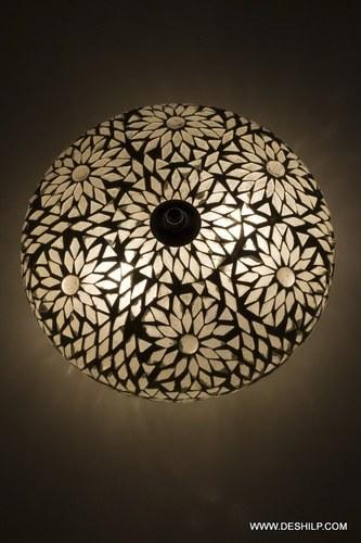 Oosterse plafondlamp Goa mozaiek transparant