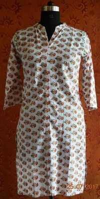 Block Printed Booti Design Kurti/Top