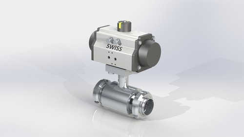 2 Piece Design Ball Valve SMS End with Potioner
