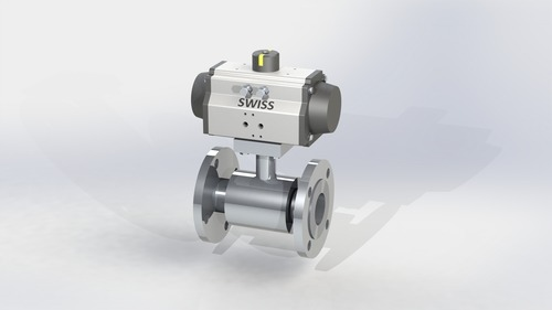 2 Piece Design Ball Valve Flange End with Potioner