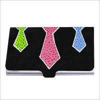 Tie The Ties - Metal Card Holder For Boss Gift