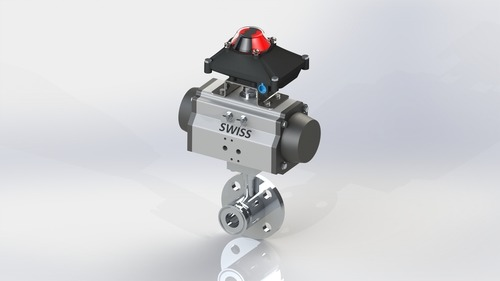 Flush Bottom Valve Flange & TC With Actuator & Feedback Systems