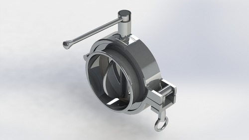 3 Piece Clamp Type Butterfly Valve