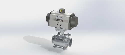 Actuator Operated 3 Pc Ball Valve