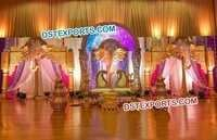 Golden Elephant Face Panels  Stage Decor