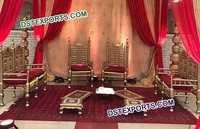 Stylish Wedding Wooden Mandap Chairs