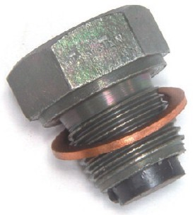 Magnetic Drain Plug for Engine Oil Sump