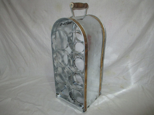 Galvanized Wine Rack