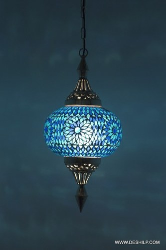 Gl Mosaic Electric Lighting Hanging Night Lamp Shade Chandelier