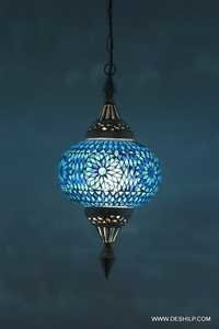 Glass Mosaic Electric Lighting Hanging Night lamp Shade Chandelier Home Decor