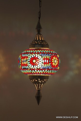 Glass Mosaic Hanging Night lamp Chandelier Home Decor