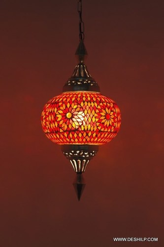Glass Mosaic Electric Lighting Hanging Chandelier Home Decor
