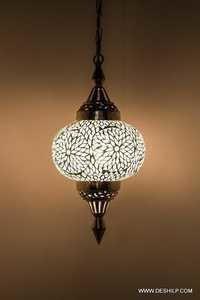 Treasure Hunt Big Kadoo Shaped Multicolor Glass Lamp