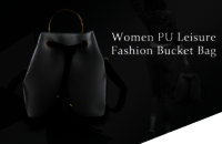 Ladies Pu Fashion Bucket Bag