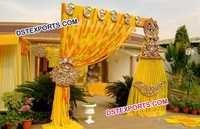 Golden Hanging Frames Kundan Decorations