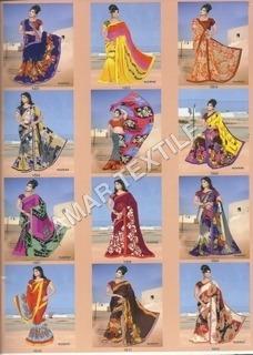 designer printing sarees