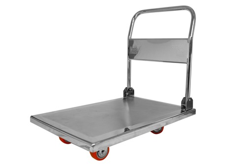 SS Platform Trolley with Folding Handle