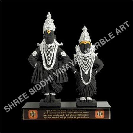 Lord Vitthal Rukmani Marble Statue