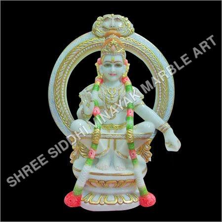 Marble Ayyappa Statue