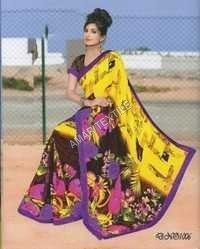 fancy printed Fancy Border sarees