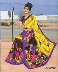 fancy printed Fancy Border sarees