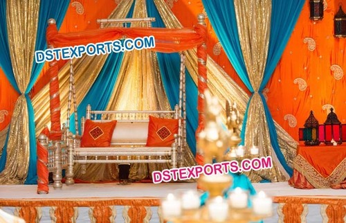 Decorated Wooden Wedding Swing