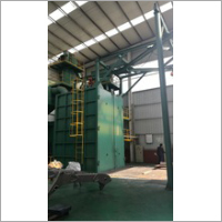 Over Head Rail Hook Shot Blasting Machine