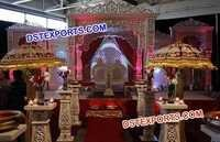 Heavy Golden Designer Fiber Carved Mandap