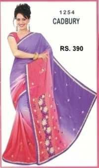fancy printed desinger sarees for ladies