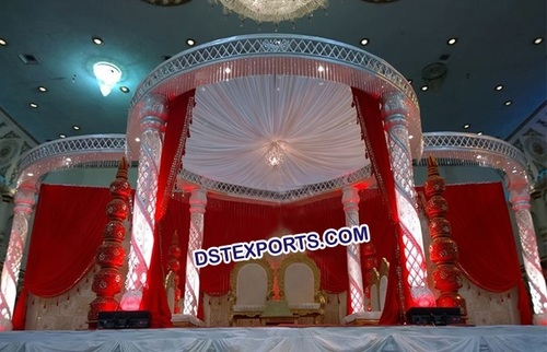 Lighted Wedding Crystal Mandap