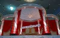 Lighted Wedding Crystal Mandap
